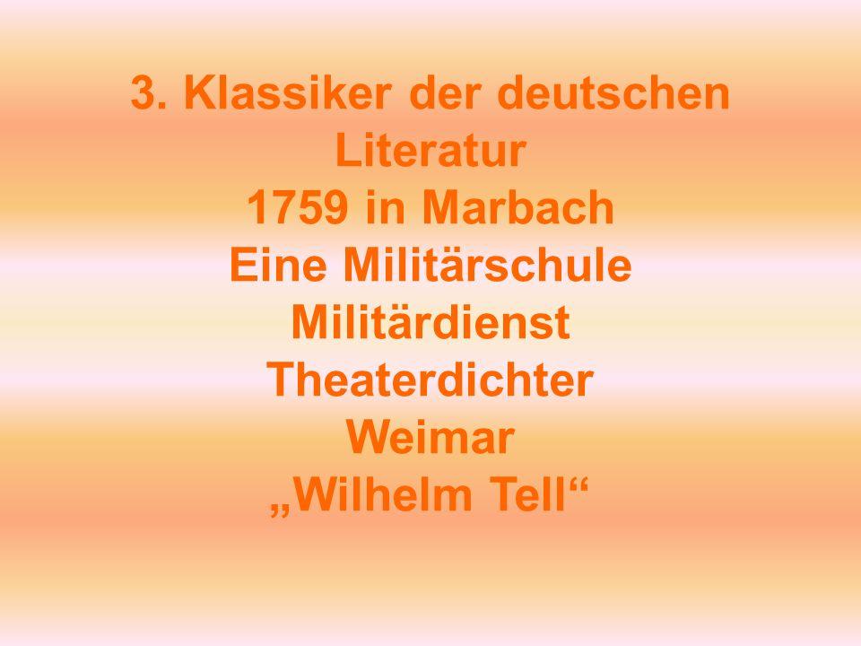 3. Klassiker der deutschen Literatur