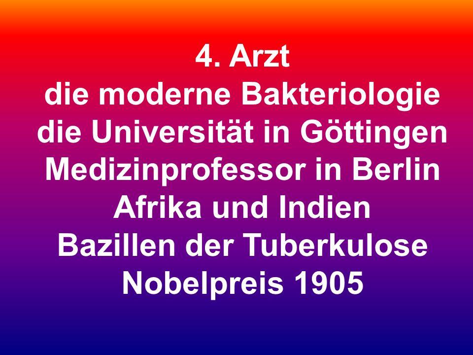 die moderne Bakteriologie die Universität in Göttingen