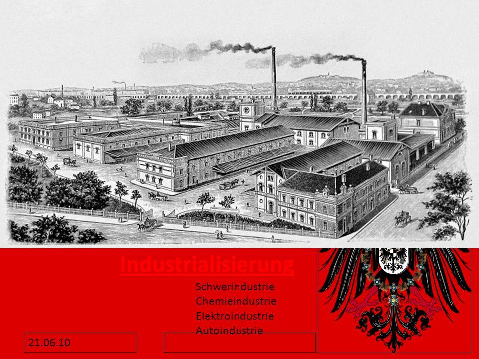 Industrialisierung Schwerindustrie Chemieindustrie Elektroindustrie