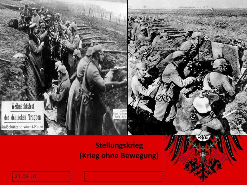 Stellungskrieg (Krieg ohne Bewegung)