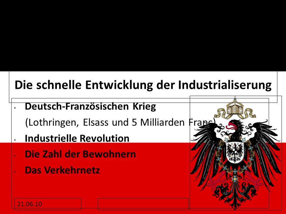 Die schnelle Entwicklung der Industrialiserung