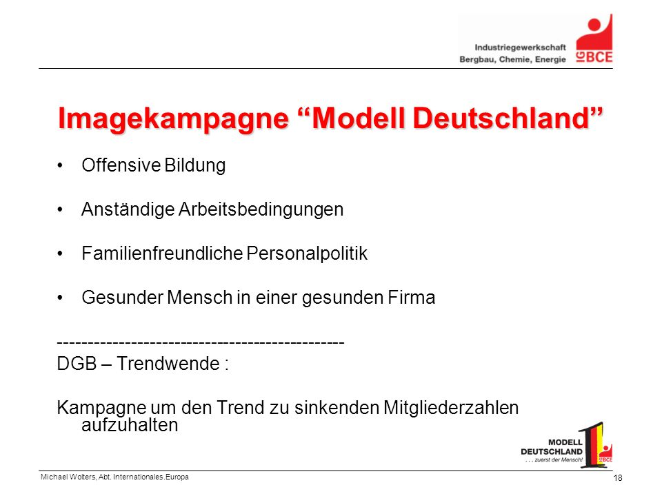 Imagekampagne Modell Deutschland