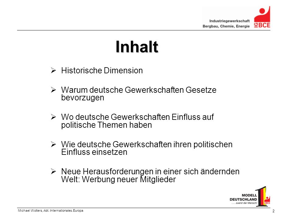 Inhalt Historische Dimension