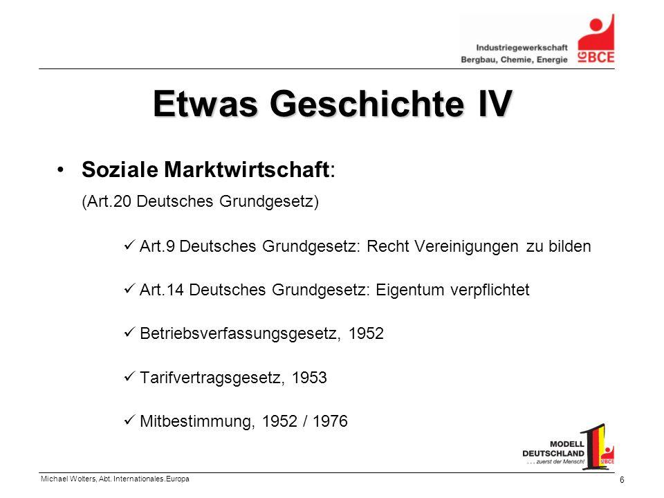 Etwas Geschichte IV Soziale Marktwirtschaft: