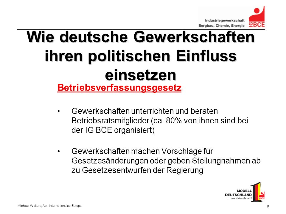 Wie deutsche Gewerkschaften ihren politischen Einfluss einsetzen