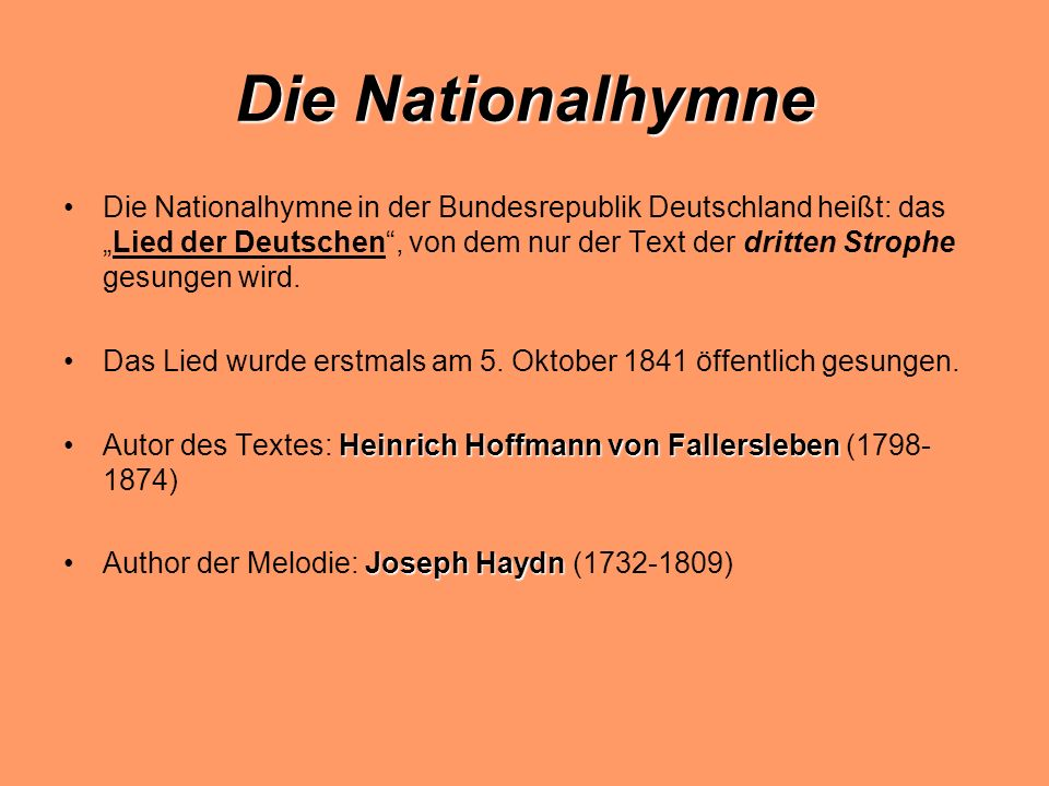 Die Nationalhymne