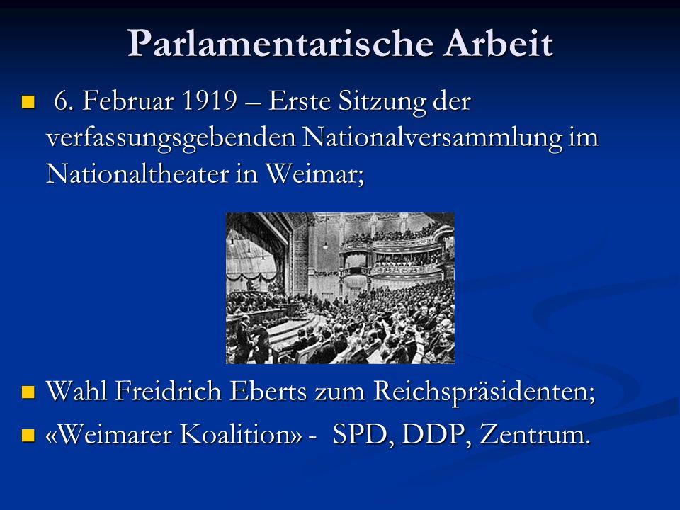 Parlamentarische Arbeit