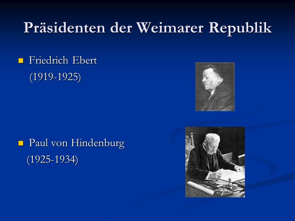 Präsidenten der Weimarer Republik
