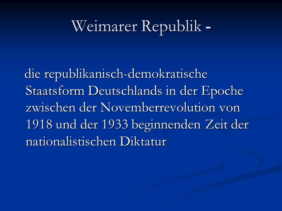 Weimarer Republik -