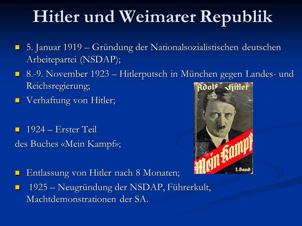 Hitler und Weimarer Republik