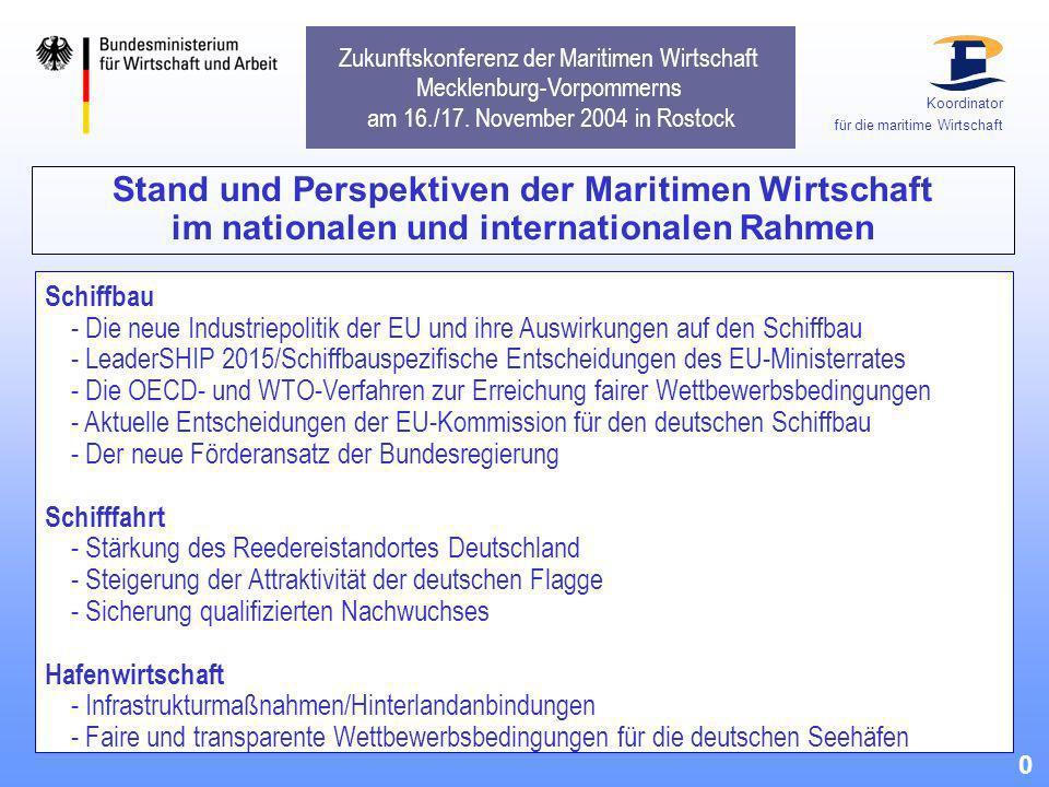 Zukunftskonferenz der Maritimen Wirtschaft