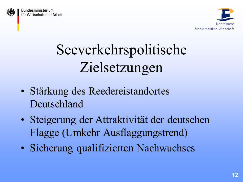 Seeverkehrspolitische Zielsetzungen