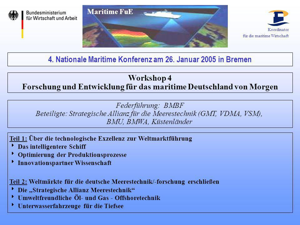 4. Nationale Maritime Konferenz am 26. Januar 2005 in Bremen