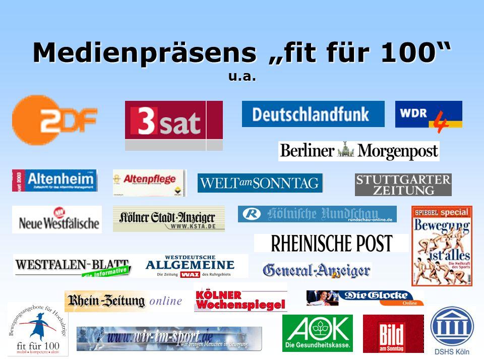 """Medienpräsens """"fit für 100 u.a."""