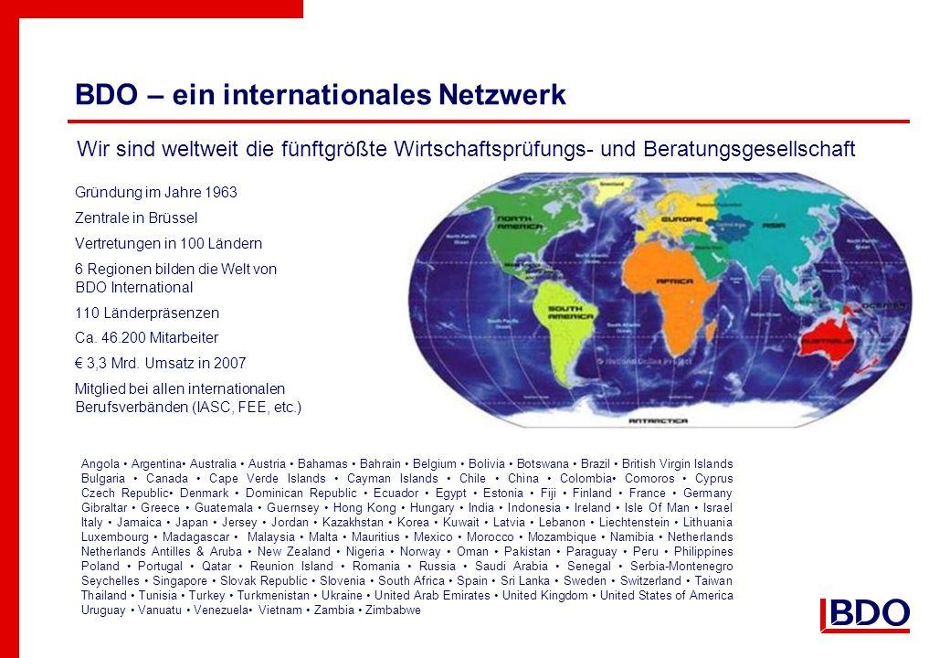 BDO – ein internationales Netzwerk