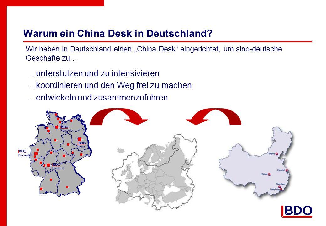 Warum ein China Desk in Deutschland