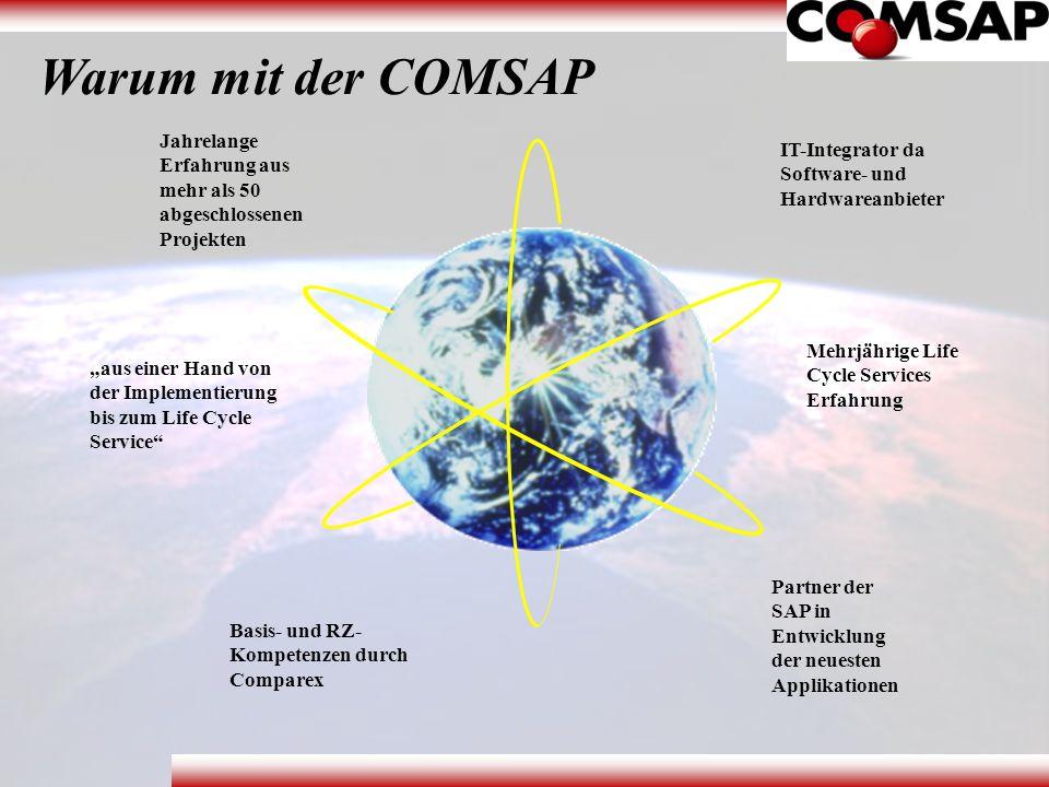 Warum mit der COMSAP Jahrelange Erfahrung aus mehr als 50 abgeschlossenen Projekten. IT-Integrator da Software- und Hardwareanbieter.