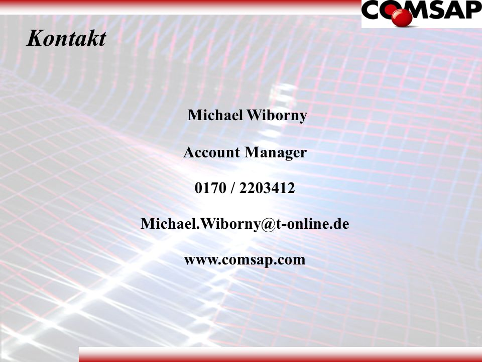 Kontakt Michael Wiborny Account Manager 0170 / 2203412