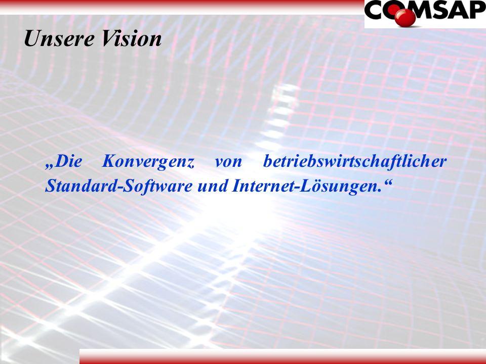 """Unsere Vision """"Die Konvergenz von betriebswirtschaftlicher Standard-Software und Internet-Lösungen."""