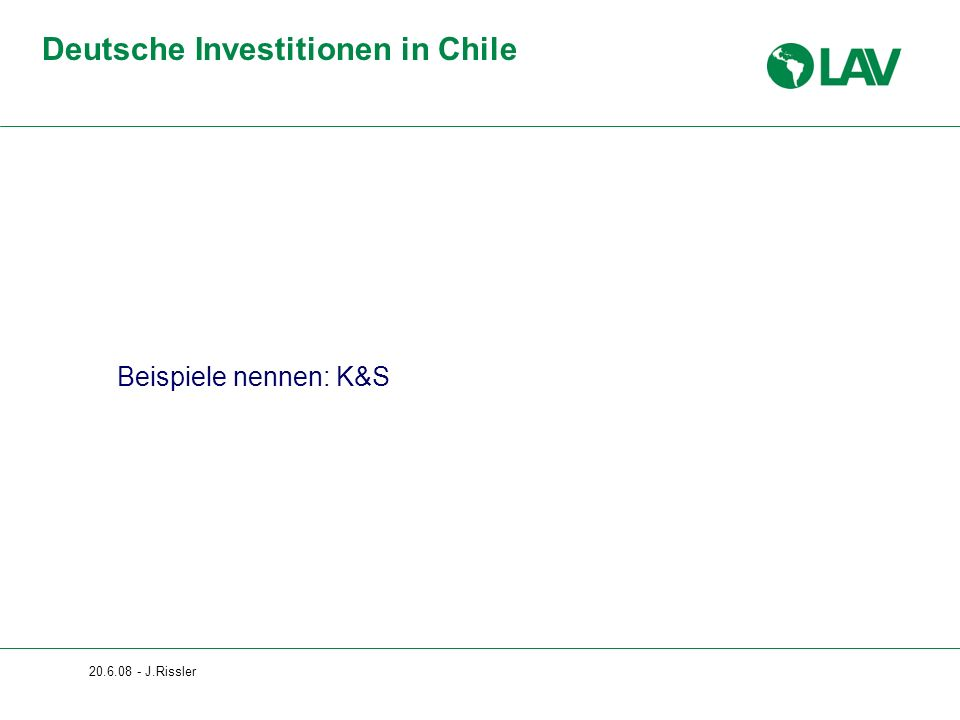 Deutsche Investitionen in Chile