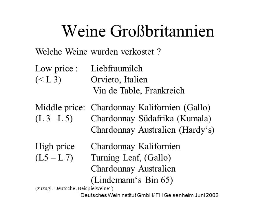 Deutsches Weininstitut GmbH/ FH Geisenheim Juni 2002