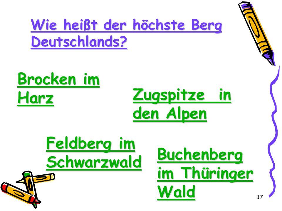 Feldberg im Schwarzwald Buchenberg im Thüringer Wald