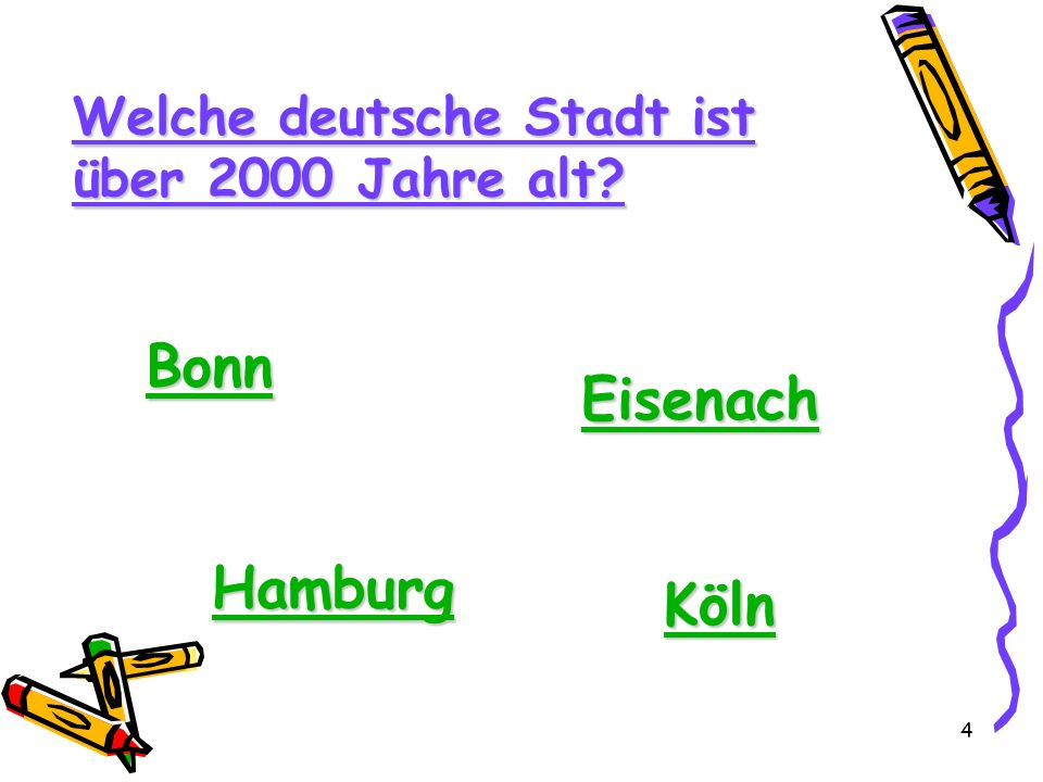 Bonn Eisenach Hamburg Köln