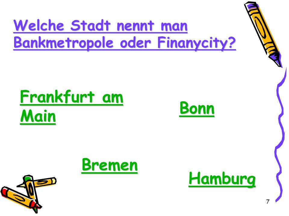 Frankfurt am Main Bonn Bremen Hamburg