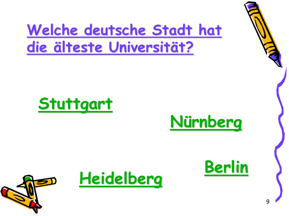 Stuttgart Nürnberg Berlin Heidelberg