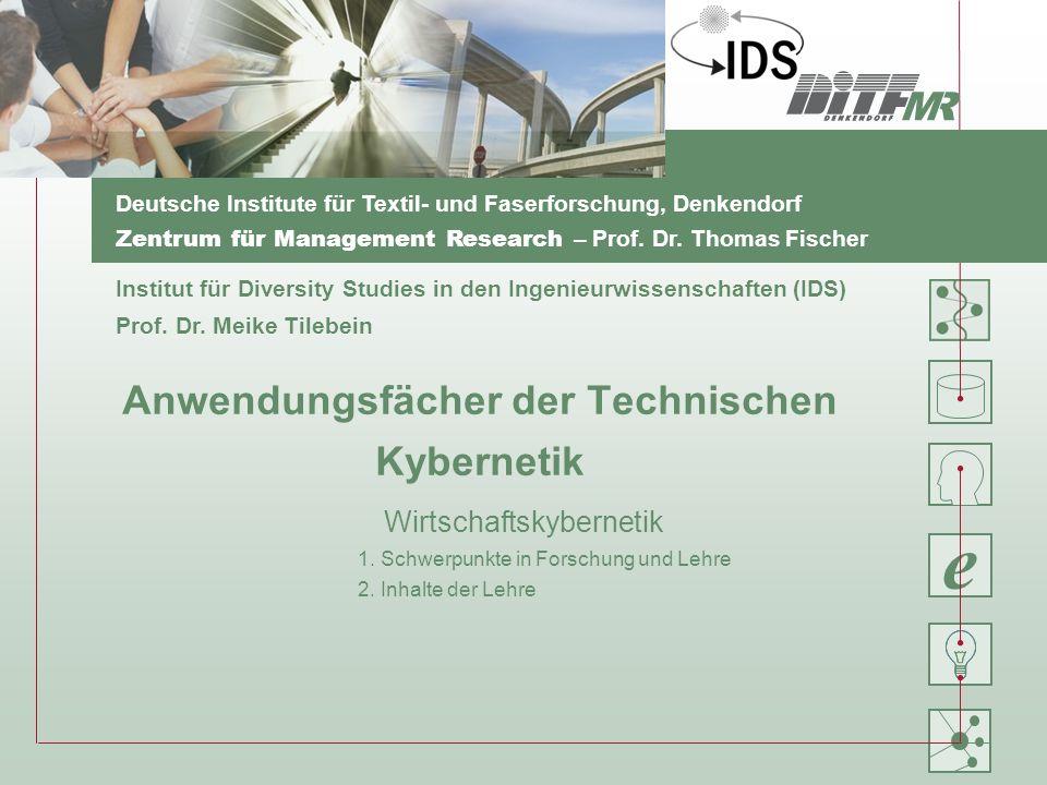 Anwendungsfächer der Technischen Kybernetik