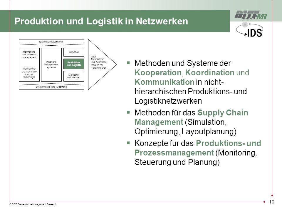 Produktion und Logistik in Netzwerken