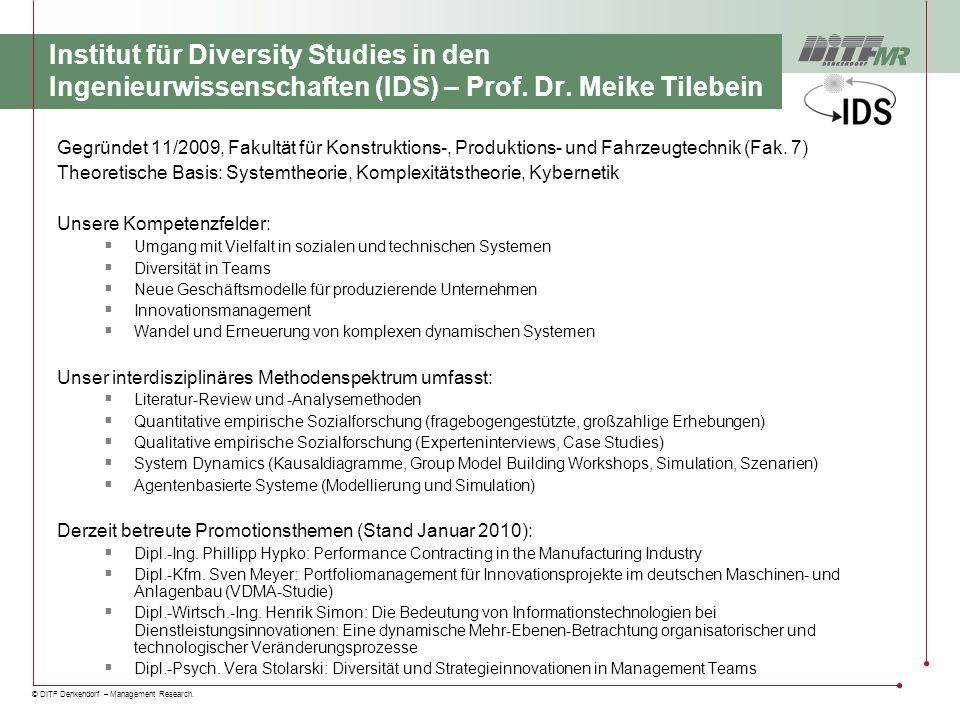Institut für Diversity Studies in den Ingenieurwissenschaften (IDS) – Prof. Dr. Meike Tilebein