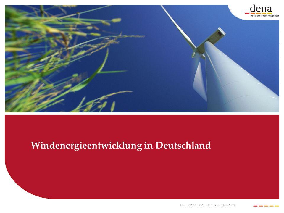 Windenergieentwicklung in Deutschland