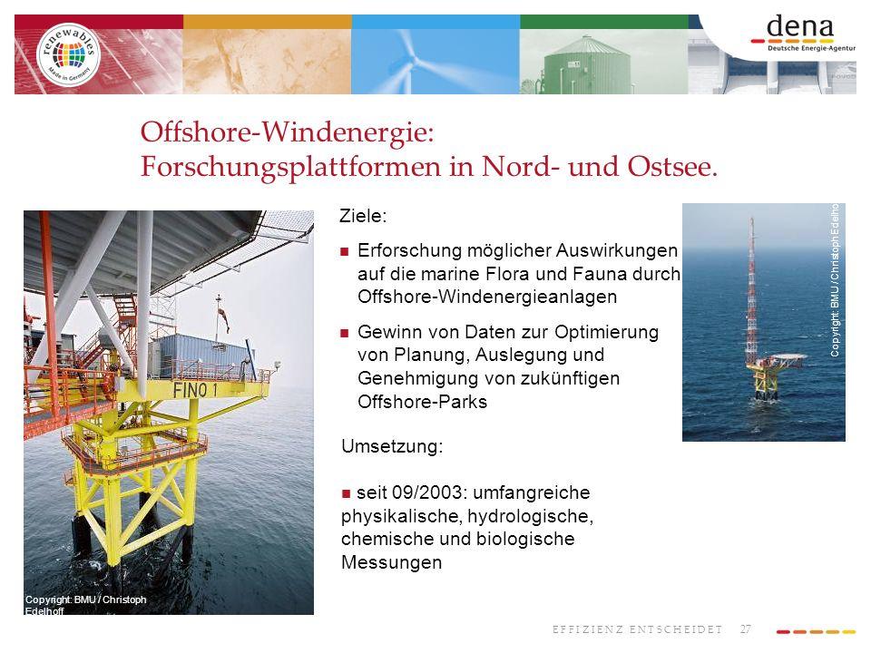 Offshore-Windenergie: Forschungsplattformen in Nord- und Ostsee.