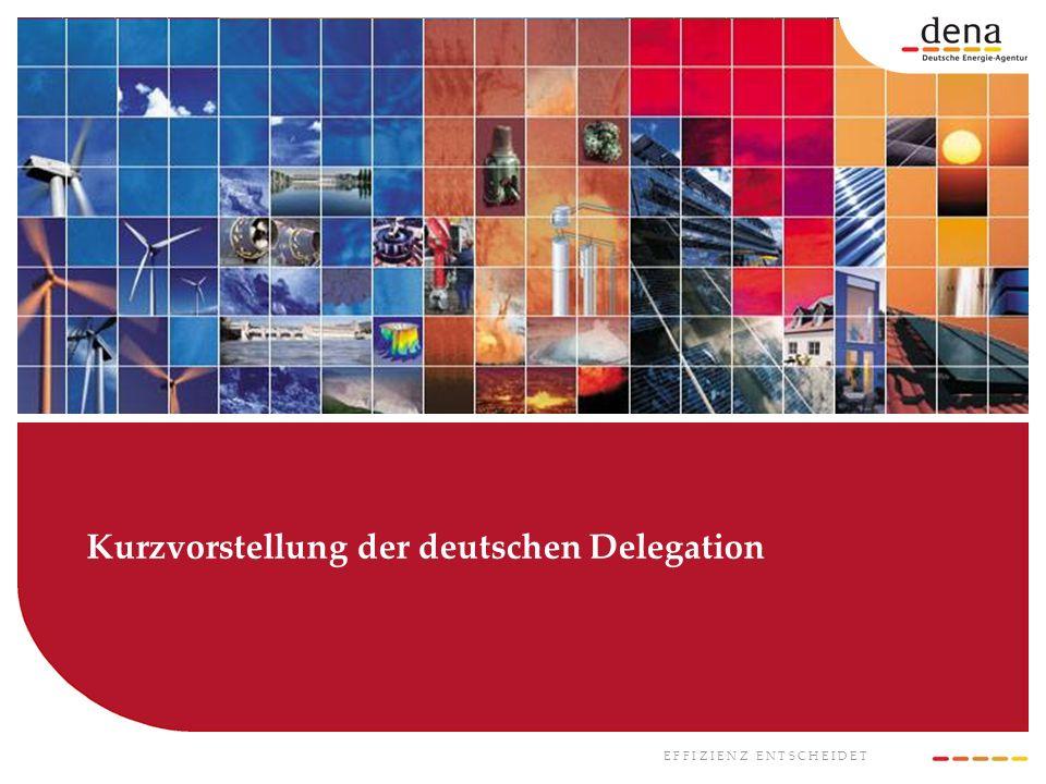 Kurzvorstellung der deutschen Delegation