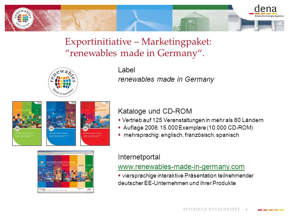 Exportinitiative – Marketingpaket: renewables made in Germany .