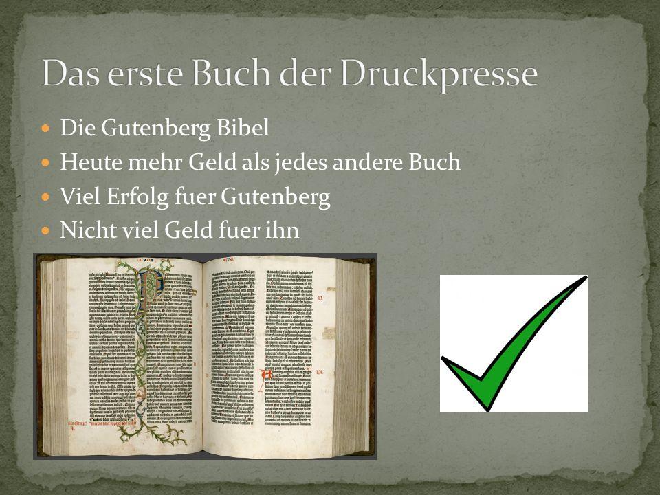 Das erste Buch der Druckpresse