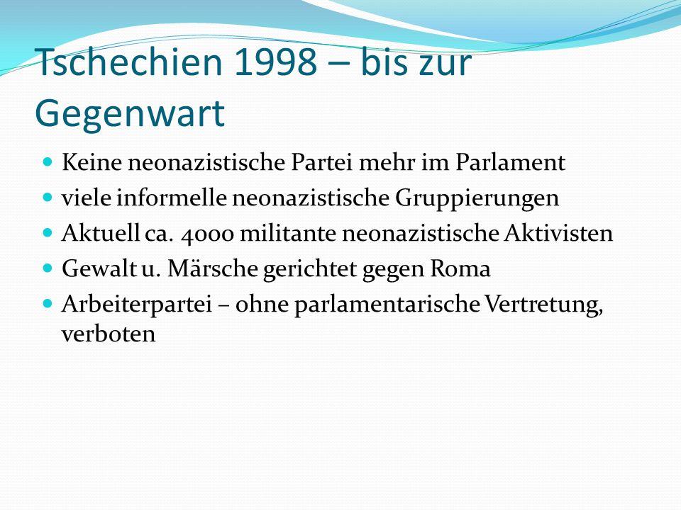 Tschechien 1998 – bis zur Gegenwart