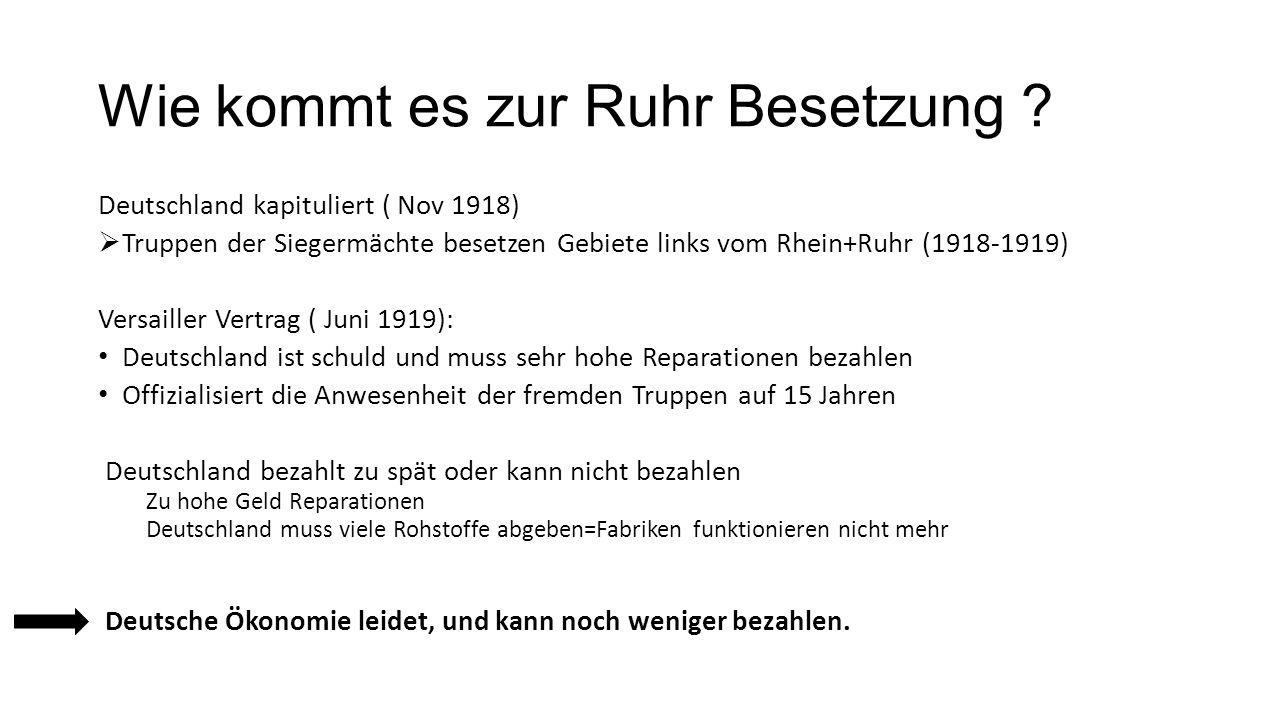 Wie kommt es zur Ruhr Besetzung