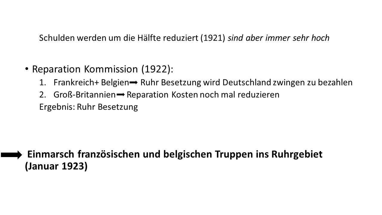 Reparation Kommission (1922):