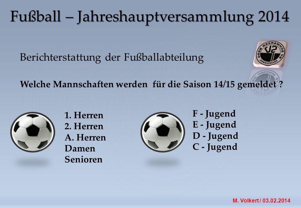 Fußball – Jahreshauptversammlung 2014