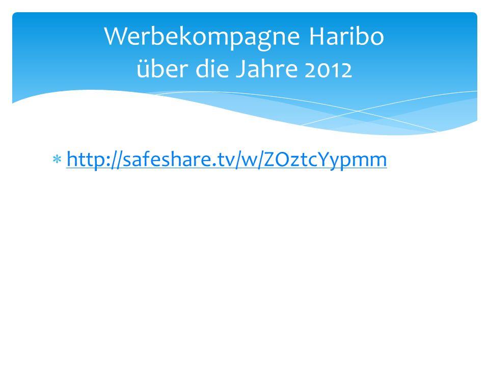 Werbekompagne Haribo über die Jahre 2012