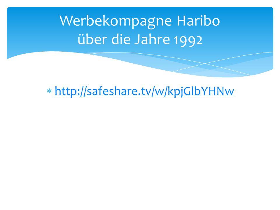 Werbekompagne Haribo über die Jahre 1992