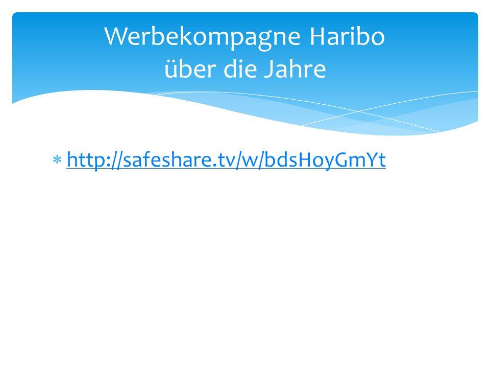 Werbekompagne Haribo über die Jahre