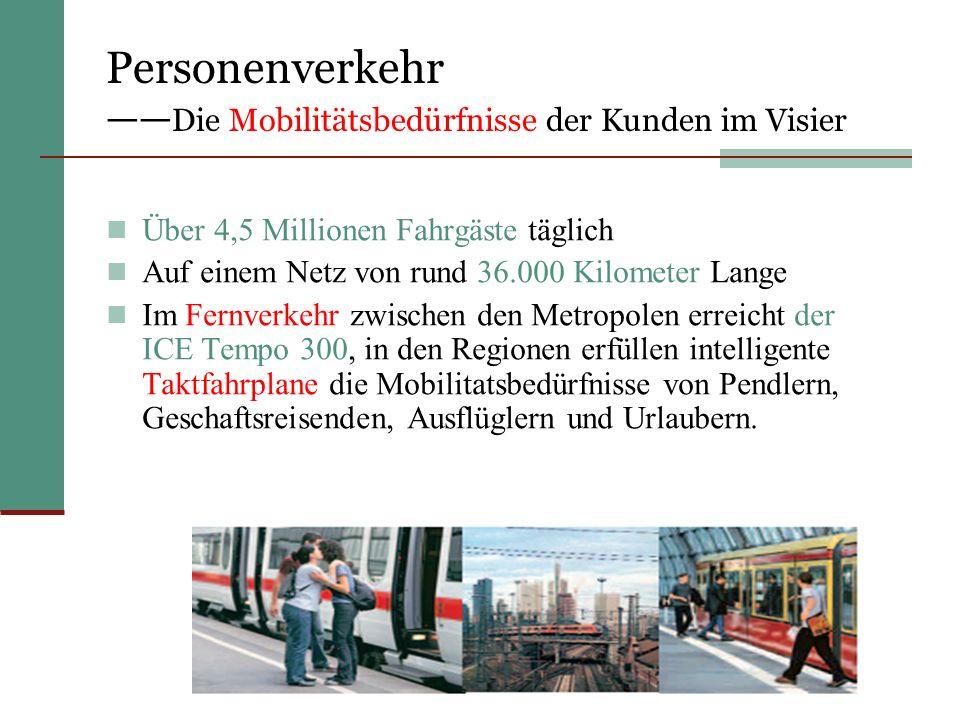 Personenverkehr ——Die Mobilitätsbedürfnisse der Kunden im Visier