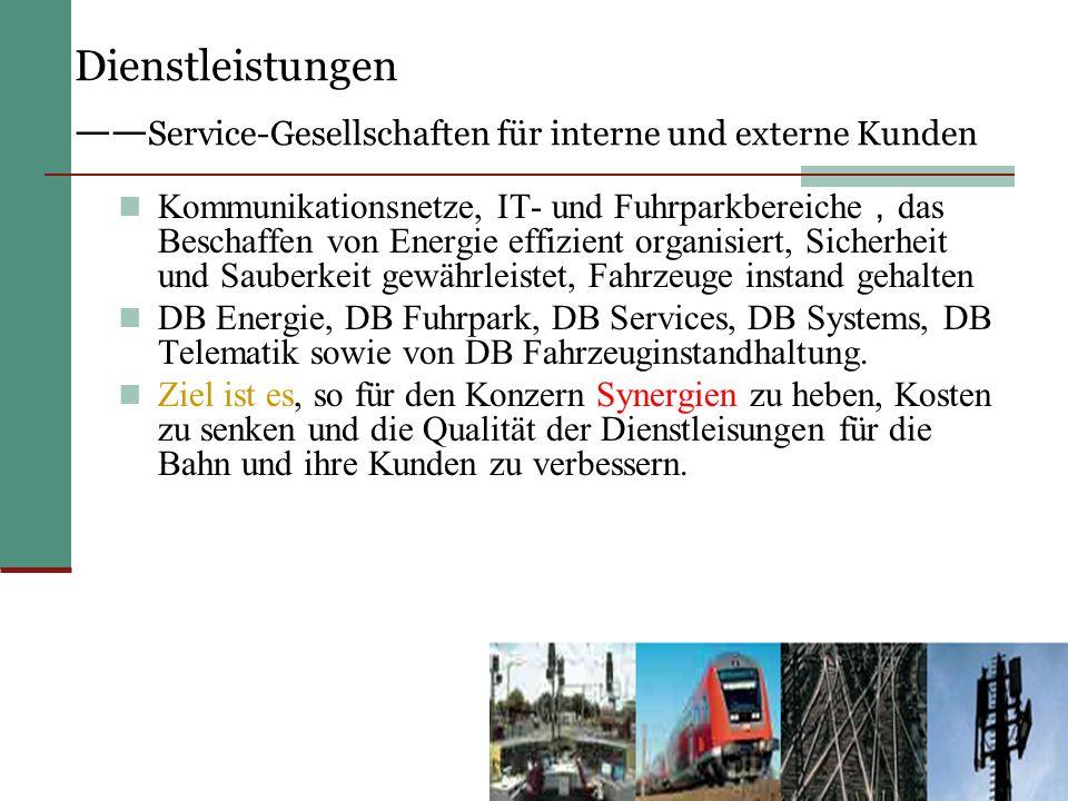 Dienstleistungen ——Service-Gesellschaften für interne und externe Kunden