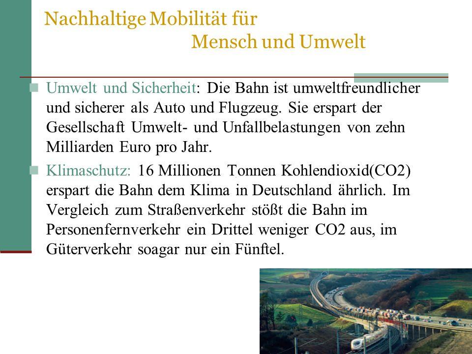 Nachhaltige Mobilität für Mensch und Umwelt