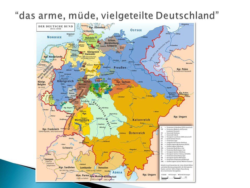 das arme, müde, vielgeteilte Deutschland