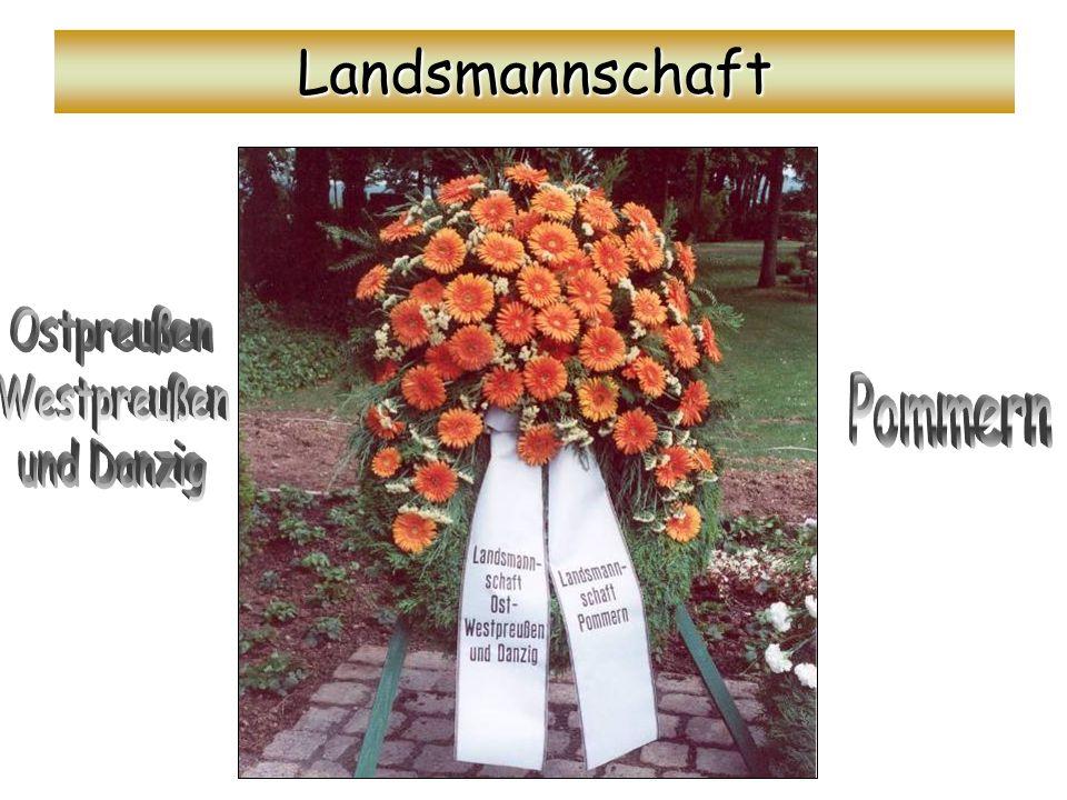 Landsmannschaft Ostpreußen Westpreußen und Danzig Pommern