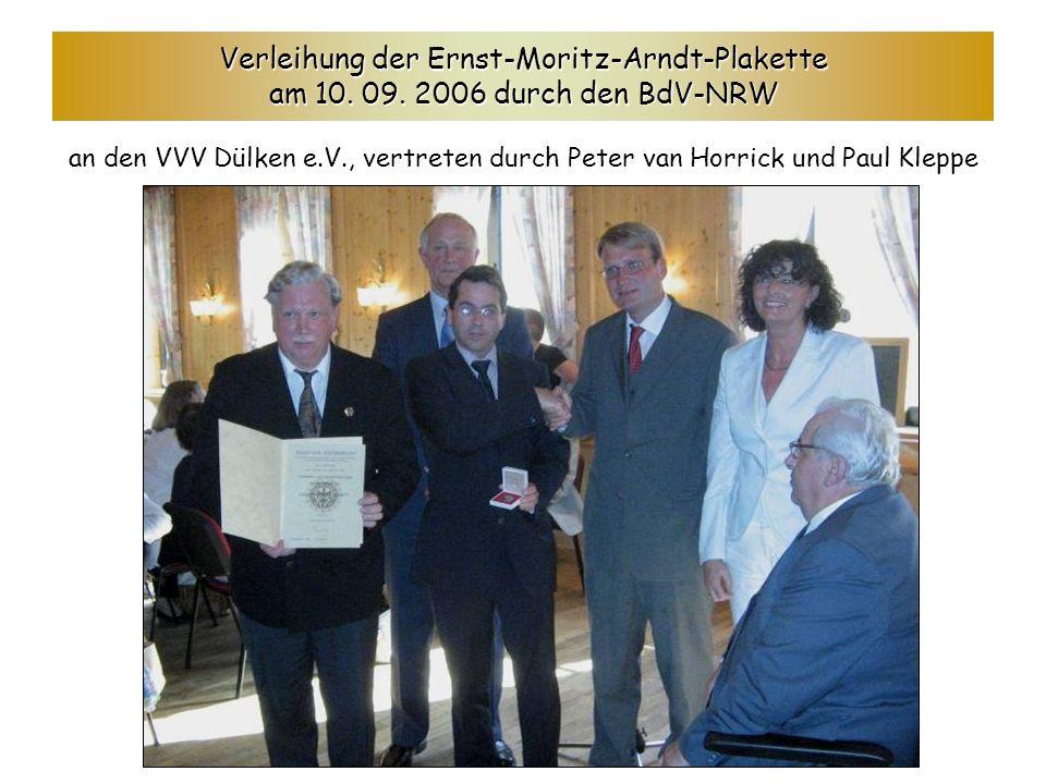 Verleihung der Ernst-Moritz-Arndt-Plakette am 10. 09